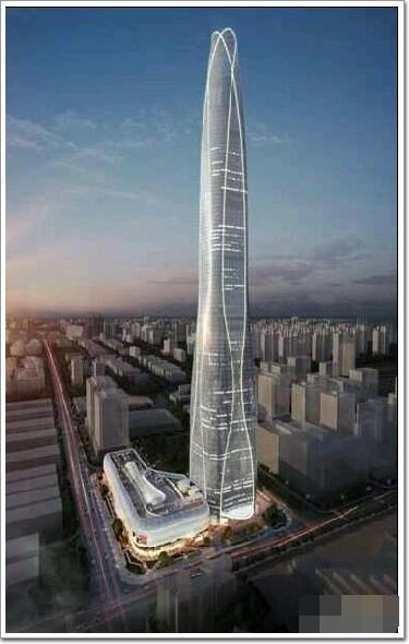 天津周大福金融中心——530米滨海第一幕墙高楼_青岛